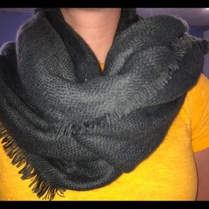 Charcoal Grey Blanket Scarf